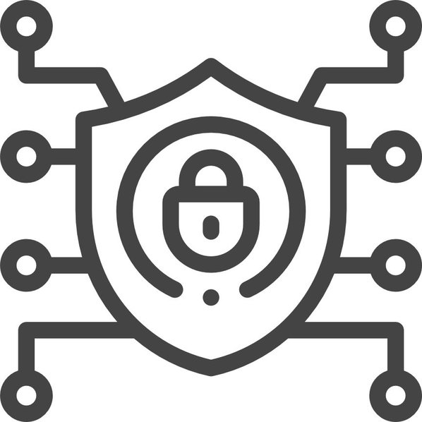Icon of a shield with connections
