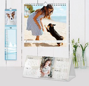 verschiedene Fotokalender Formate