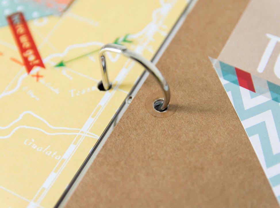 dettaglio fori rinforzati della carta per scrapbooking di myphotobook