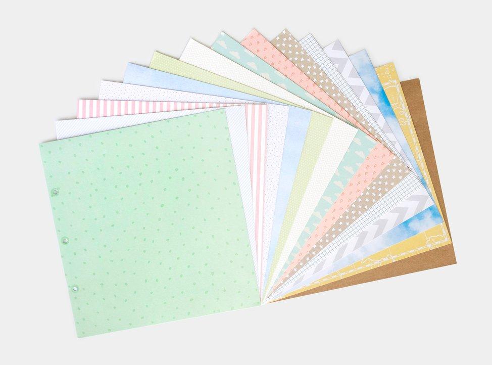 fogli per scrapbooking in diverse fantasie disponibili su myphotobook