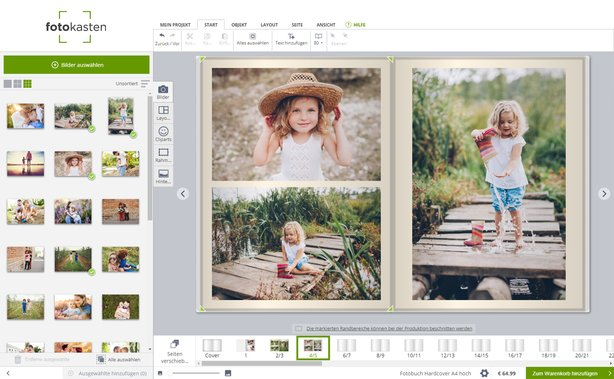 Fotobuch Software Windows Mac fotokasten