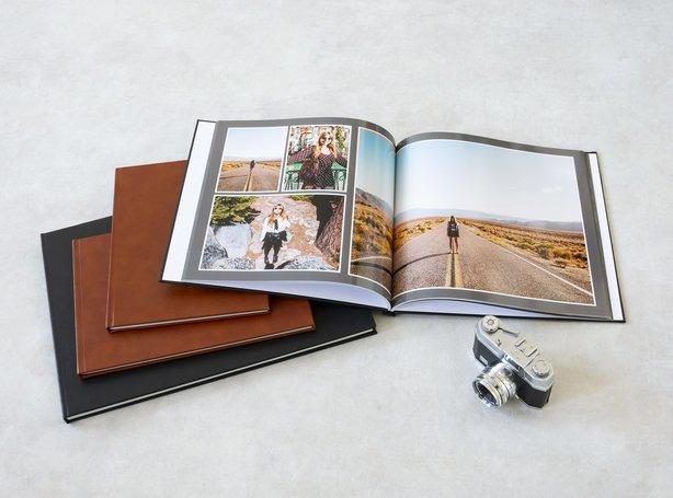 Créer son propre livre photo avec couverture en cuir