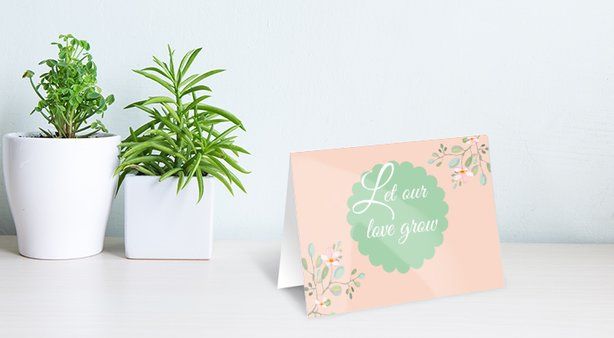 "Karte zum Valentinstag ""Let our love grow"""