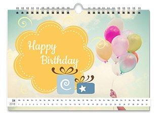 Geburtstagskalender mit Text