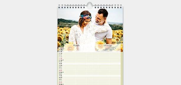 Partnerkalender gestalten