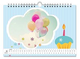 Geburtstagskalender mit Hintergrund