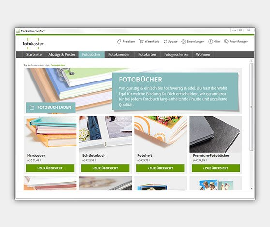 Ansicht Software fotokasten