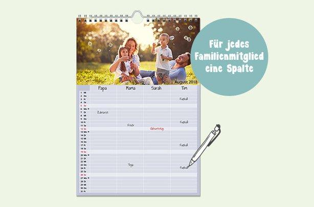 Familienkalender gestalten