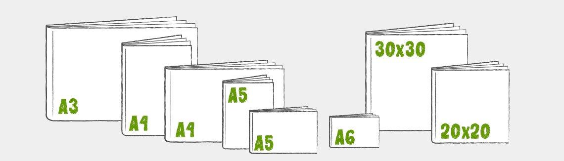 Alles über Fotobuch-Formate