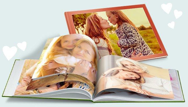 un livre photo comme cadeau pour la Fête des Mères