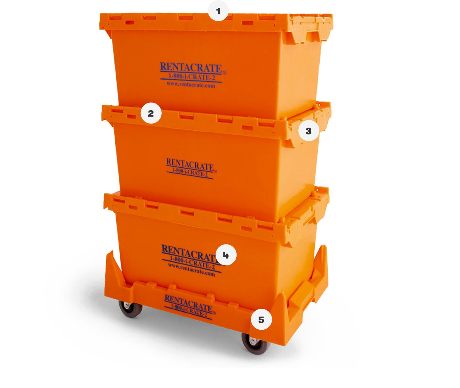 Stacked Plastic Moving Crates