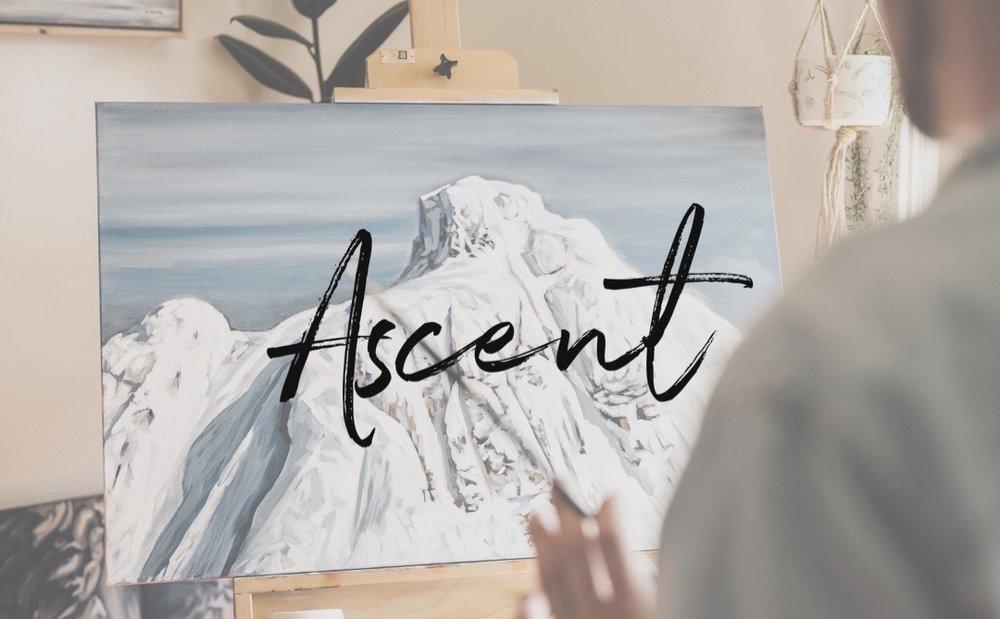 Jordan Fritz Art Ascent Collection Acrylic Mountain Landscape Fine Art Painting