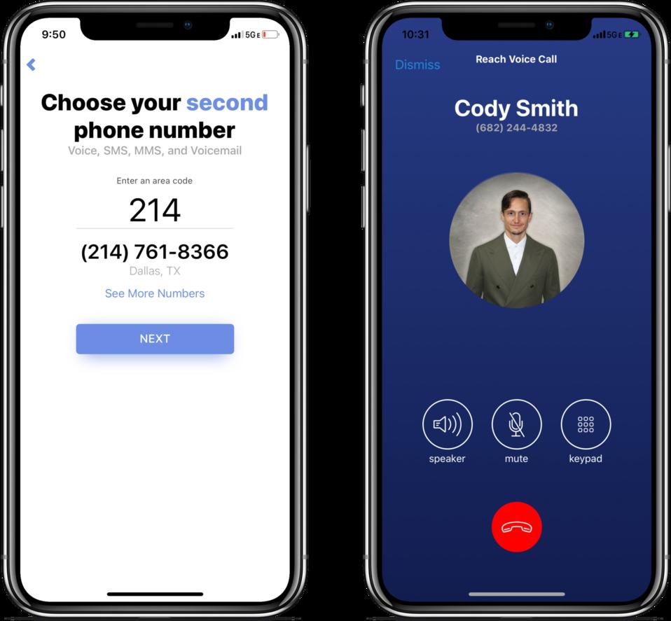 Reach Business Phone making a business call