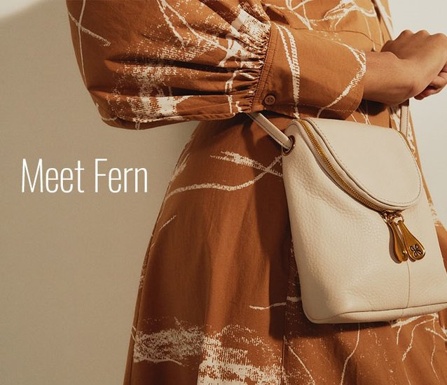 Shop the Fern in VelvetPebbled Hide Leather