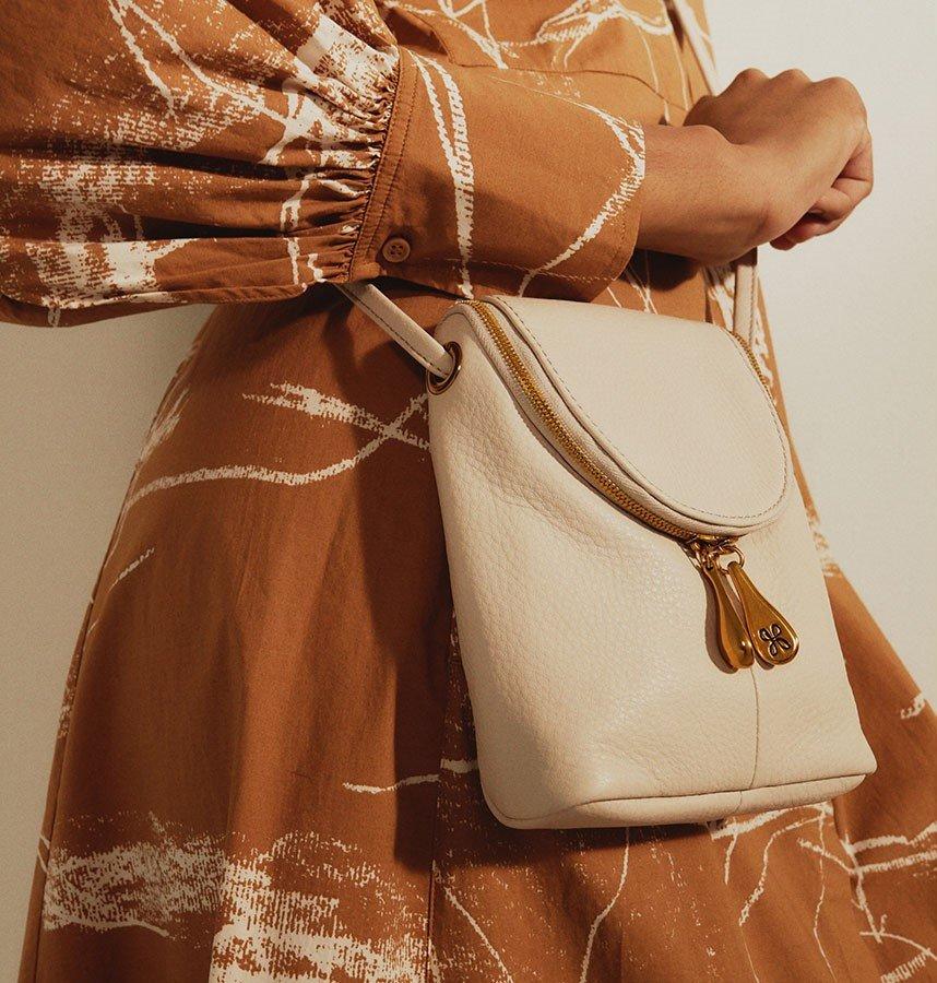 Shop the Fern crossbody in Velvet Hide Leather
