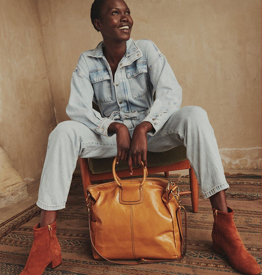 Meet the Sheila handbag - she carries all your baggage and then some.