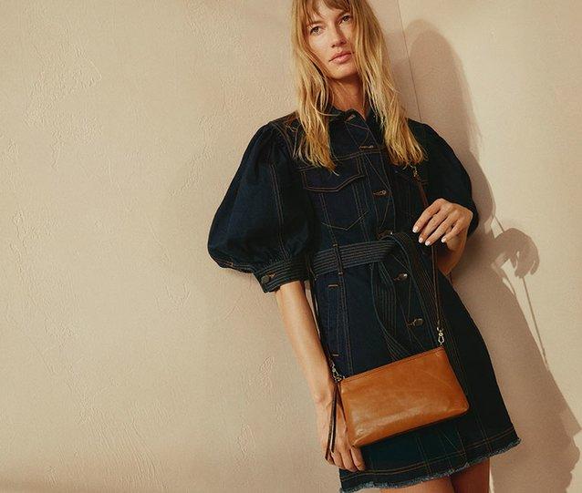 Shop The Darcy leather handbag