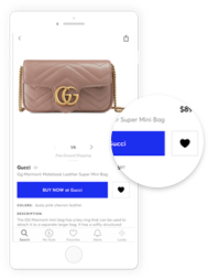 Like. Personalize your shopping experience by liking and saving your favorite items, brands, stores and searches. Create an account to access them anywhere , from your phone to your computer.